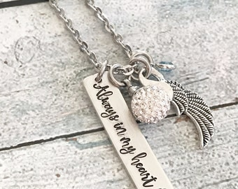 Urn jewelry - Cremation jewelry - Memorial necklace - Pendent for ashes - Hand stamped necklace - Personalized necklace - Custom necklace