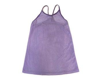 Vintage Purple Mesh Tank Top