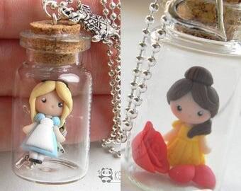 Little Princesses in a bottle, Necklace, necklace