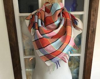 Vintage Cotton Weave Scarf Multi-Colored
