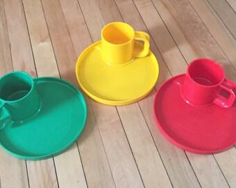 Vintage 1980s Ingrid Chicago Plastic Plates Cups Sets!