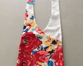 Handmade Upcycled Floral Hobo Shoulder Purse