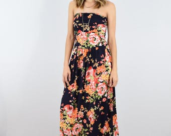 Floral  maxi dress S to XL