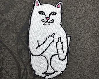 back patch iron on embroidered cat patch funny patch finger patches iron on patch sew on patch AH38939