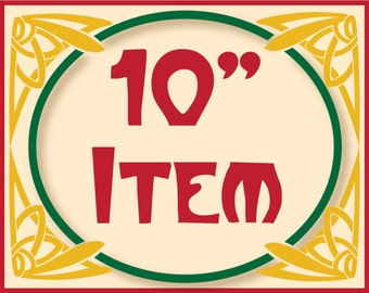 """10"""" laser wood cutout of Array of Delight's items"""