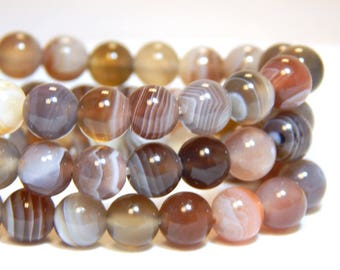 6mm Botswana Agate, Grade A, Full Strand, 6mm Agate, Natural Beads, Botswana Beads , Round Gemstones, 6mm Gemstones, Natural Agate, B-30A
