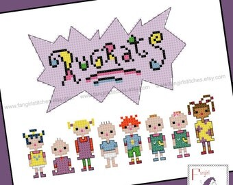 Rugrats Cross Stitch - PDF Pattern - INSTANT DOWNLOAD