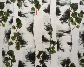 "Scandinavian Swedish fabric Birch - 100% Cotton fabric  -  150 cm wide (59"")"