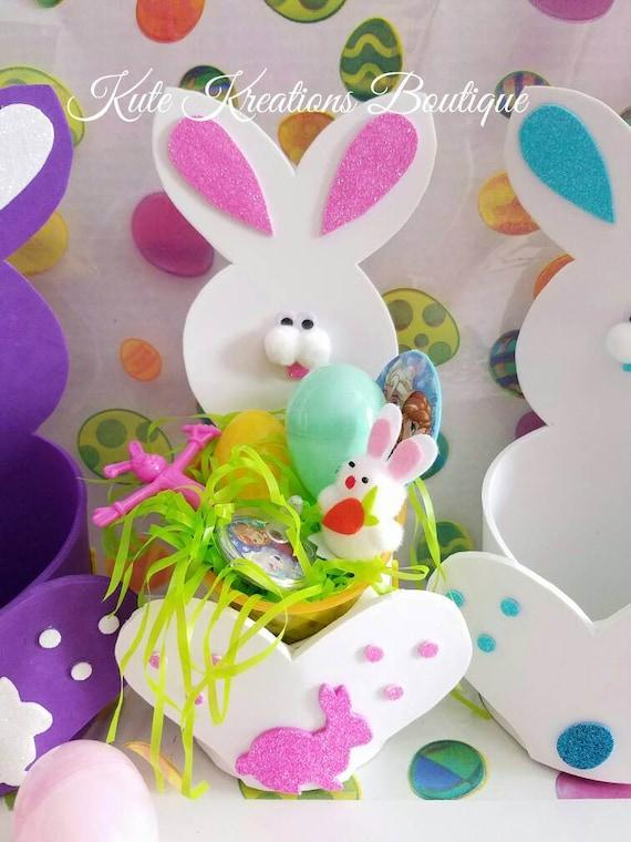 Easter Foam Bunny Small Basket/Easter Basket/Easter/Easter Bunny.