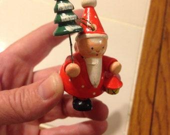 Little Vintage Santa Ornament