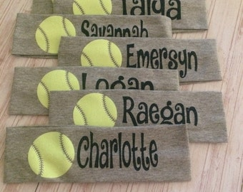 Softball Headband , Active Wear, Custom Headband, Baseball, Headband,  Softball Accessory, Team Sports