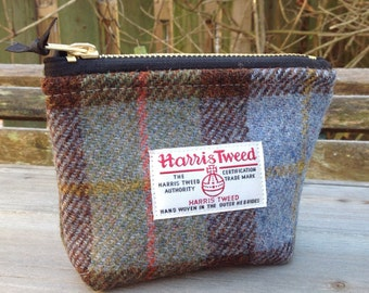 Harris tweed mini storage pouch purse  in MacLeod tweed.