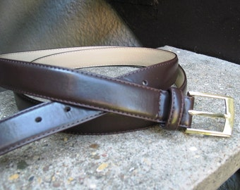 Used Mens Brown Leather Belt Size 54