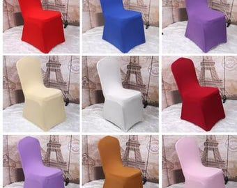 10 PCS Wedding Chair Cover/ Spandex Chair Cover\Lycra Chair Cover Multi-Colors