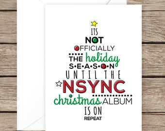 NSYNC  Happy Holidays/Christmas Card