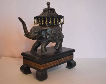 Rare Vintage Frederick Cooper Elephant & Base B-4 It Was To Be Finished Into A Table Lamp