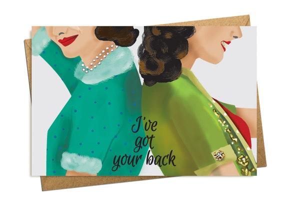 I've Got Your Back Greeting Card