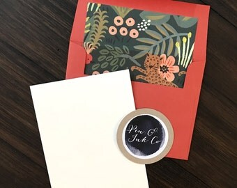 Rifle Paper Co Animal Print Notecards with Coordinating Envelope Liners - Set of 8 - Handmade