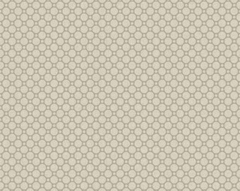 Cottage Whites - Circles Light Gray 414-LTGRY by Red Rooster Cotton Fabric Yardage
