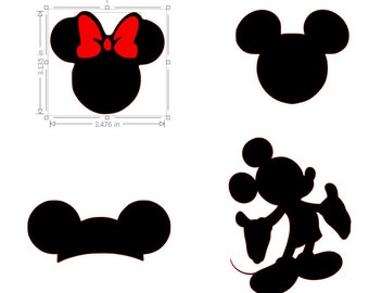 Mickey & Minnie Silhouette SVG File
