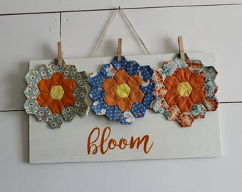 Vintage Flower Bloom Wood Sign