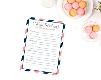 Printable Wedding Libs, Navy and Coral Wedding, Wedding Mad Libs, Reception Mad Libs, Guest Libs, Printable Wedding Games, Wedding Game