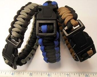3 Para-Cord Bracelets   (b11216)