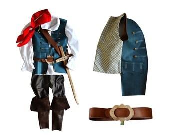 Halloween Pirat 4-9 years, Jack Sparrow, Musketeer, Mozart, Prince, Rokoko