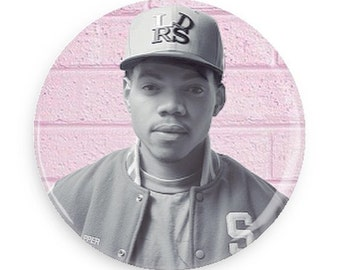Chance The Rapper Pin Back Button Badge