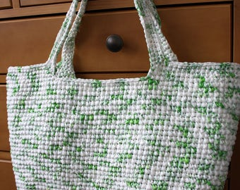 Crochet Basket Tote Bag