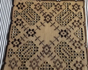 Wonderful Scandinavia very well made table cloth  in Hardanger from Sweden. 1960