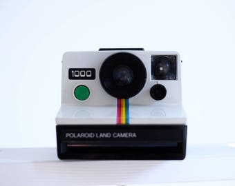 Polaroid 1000 - OneStep - Vintage Instant Camera - Land Camera - Green Shutter Button - Perfect condition!