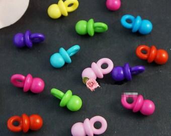 10mmx19mm Colorful Acrylic Nipple Beads,DIY Beads,Bracelet &Necklace Beads,Jewellery Making Beads,Children Souptoys