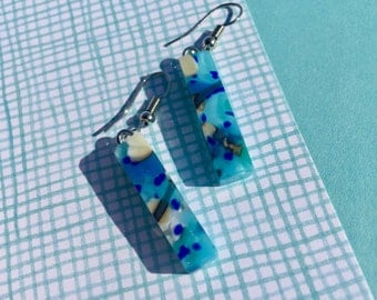 Fused Glass Earrings in Reactive Glass