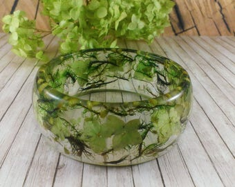 Gift|For|Her Resin jewelry gift for women Resin bangle Nature jewelry Flower bracelet Gift bracelet Floral jewelry Leaf jewelry Twig jewelry