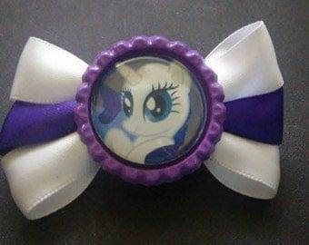 Rarity, My Little Pony Friendship Is Magic Bottle Cap Hanbag Pin