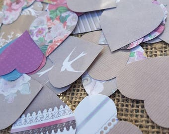 Heart Table confetti 100 hearts