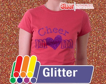 """12"""" x 20"""" / 1-sheet / Glitter Easyweed HTV / Combine for Shipping Discount - Heat Transfer Vinyl - HTV"""