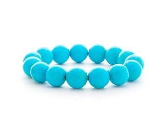 Blue Turquoise Bracelet/ Blue Enamel Bracelet/  Blue Cloisonne Bracelet/ Turquoise Statement Jewelry/ Large Turquoise Bracelet