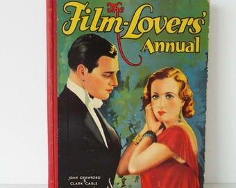 Rare Vintage 1932 The Film Lover's Annual Movie Book Joan Crawford Clark Gable Tarzan Marlene Dietrich Art Deco
