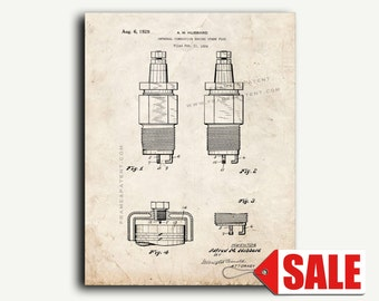 Patent Art - Spark Plug Patent Wall Art Print