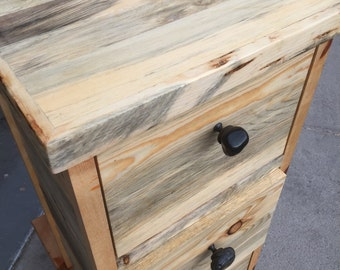 3 Drawer Reclaimed File Cabinet