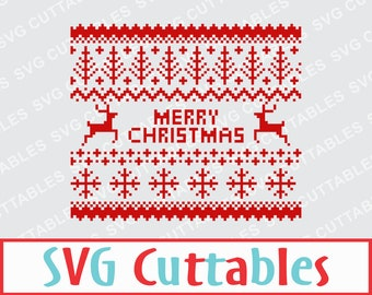 Christmas Sweater svg, ugly sweater svg, Merry Christmas svg, cut file, SVG, DXF, EPS, Silhouette file, Cricut cut file, digital download
