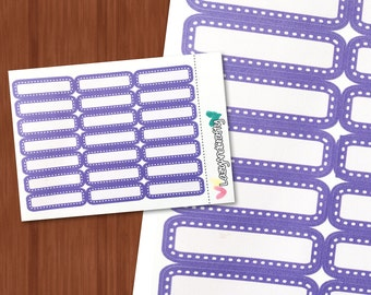 Stitched quarter box - Planner Stickers - Functional - Stickers for Erin Condren, Happy Planner, and more!