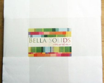 "Bella Solids Layer Cake - Choose White or 30's colors - Moda 10"" Squares"