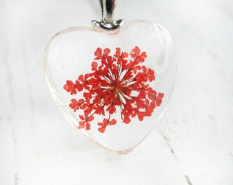Dried Flower Necklace-Valentines Gift for Teen Girls-Birthday Necklace-Gift for Daughter-Valentines Gift For Her-Gifts Under 10