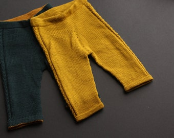 Knitting Pattern - Wool Pants for Babies and Toddlers - Swirly Twirly Pants