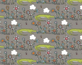 Lurking, Picnic Whimsy Collection by Rebekah Ginda for Birch Organic Fabrics 3530