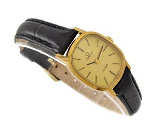 Vintage Omega De Ville Cal.625 Hand Wind Gold Plated Ladies Petite Watch 1334 - Make me an offer!
