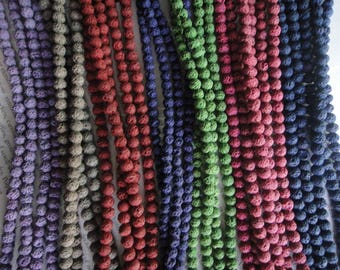 6-7mm lava beads, select your colors, 15.5 inch